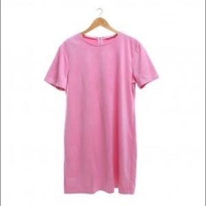Zara pink faux suede shift dress. Size M